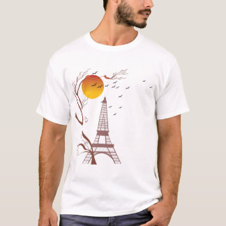 T-shirt Tour Eiffel, automne