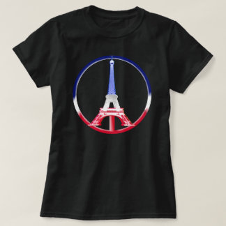 T-shirt Tour Eiffel de paix de Paris