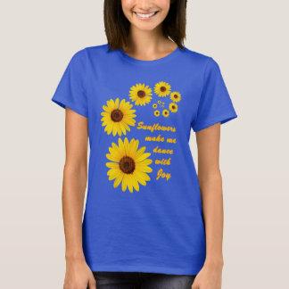 T-shirt Tournesol - danse avec joie