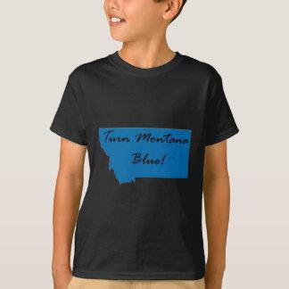 T-shirt Tournez le Montana bleu ! Fierté Democratic !