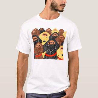 T-shirt tous les cerveaux de chiens sont au sujet de