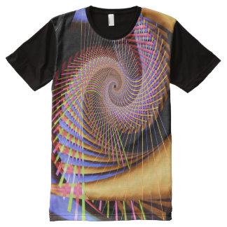 T-shirt Tout Imprimé 2 Trippy fractale fine abstraite psychédélique