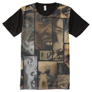 T-shirt Tout Imprimé 3ème Collage de dessin de vision d'oeil