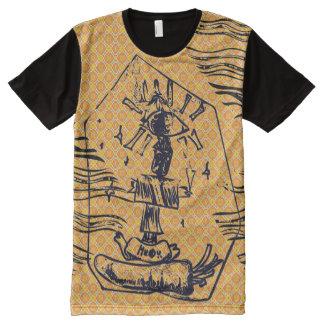 T-shirt Tout Imprimé abîme