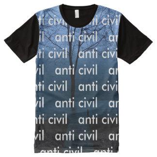 """T-shirt Tout Imprimé Anti """"partout"""" chemise civile"""