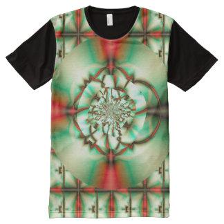 T-shirt Tout Imprimé Art de fractale d'amende d'abrégé sur acclamation