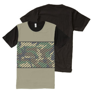 T-shirt Tout Imprimé Camo à la mode
