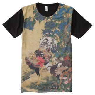 T-shirt Tout Imprimé Chemise chinoise d'art de Japonais de la nouvelle