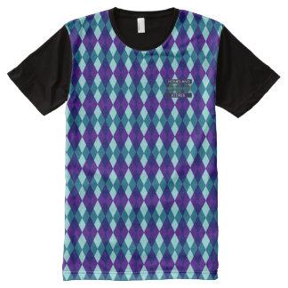 T-shirt Tout Imprimé Chemise moderne bleue pourpre de diamant snob