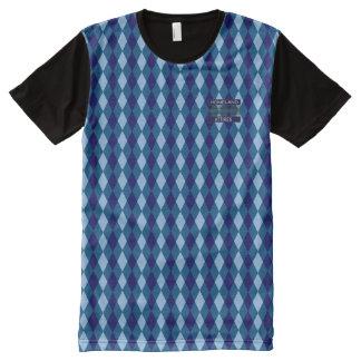 T-shirt Tout Imprimé Chemise moderne bleus snob de diamant de beaux