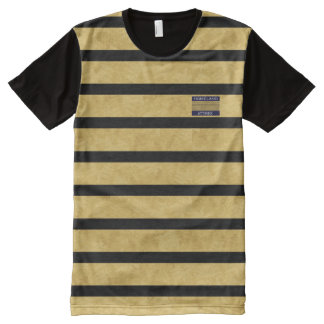 T-shirt Tout Imprimé Chemise moderne d'hommes de nom de marque de