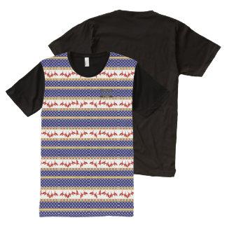 T-shirt Tout Imprimé Chemise rouge de patrie d'Eagle chauve d'étoiles