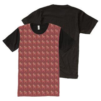 T-shirt Tout Imprimé Chevaux de Dala