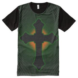 T-shirt Tout Imprimé Croix chrétienne