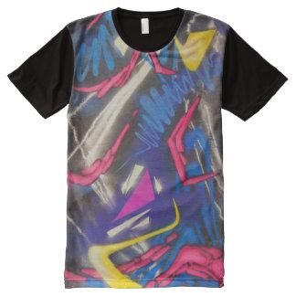 T-shirt Tout Imprimé Détail de graffiti