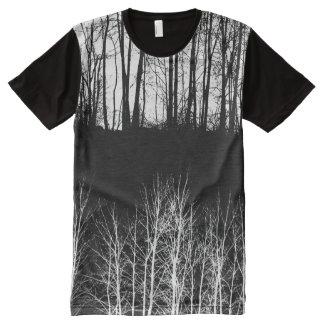 T-shirt Tout Imprimé Forêt de minuit