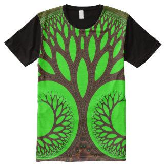 T-shirt Tout Imprimé Fractale fine abstraite de l'arbre 2