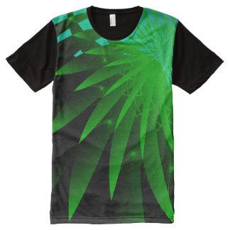 T-shirt Tout Imprimé Fractale fine abstraite psychédélique de l'algue 3