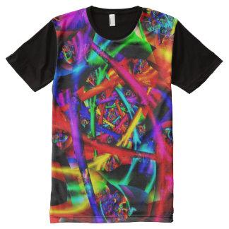 T-shirt Tout Imprimé Fractale fine abstraite psychédélique du feu