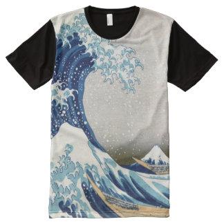 T-shirt Tout Imprimé grande vague de 北斎 outre des beaux-arts de