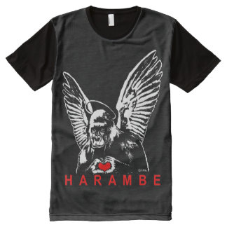 T-shirt Tout Imprimé Harambe