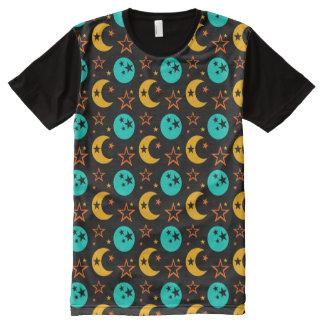 T-shirt Tout Imprimé La lune tient le premier rôle l'astrologie étoilée