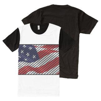 T-shirt Tout Imprimé L'Amérique à la mode