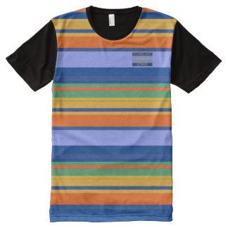 T-shirt Tout Imprimé Le jaune orange de bleus d'hommes colore le