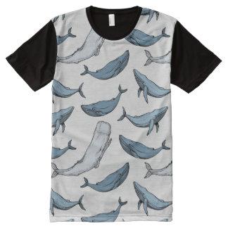 T-shirt Tout Imprimé Les baleines sont partout