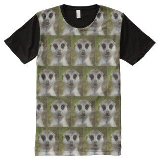 T-shirt Tout Imprimé Meerkat drôle 03,2