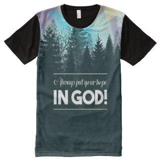 T-shirt Tout Imprimé Mettez toujours votre espoir dans Dieu !