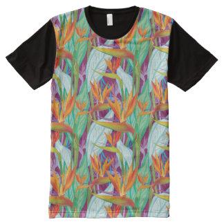 T-shirt Tout Imprimé Motif de Strelitzia