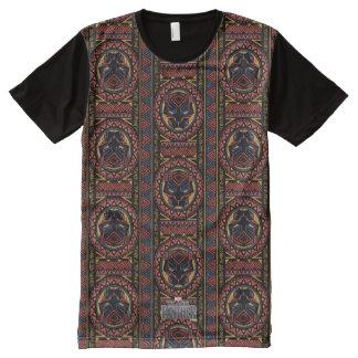 T-shirt Tout Imprimé Motif tribal de tête de panthère de la panthère