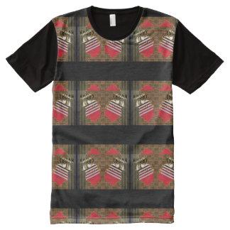 T-shirt Tout Imprimé Pièce en t de panneau de couronne