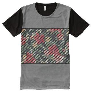 T-shirt Tout Imprimé Pièce en t florale à la mode