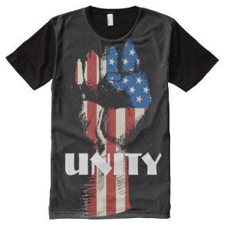 T-shirt Tout Imprimé Poing d'unité