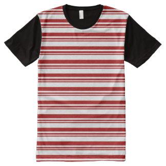 T-shirt Tout Imprimé Rayures de sucre de canne de Noël