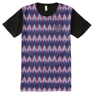 T-shirt Tout Imprimé Seigneurs anglais Purple Modern Shirt d'université