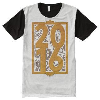 T-shirt Tout Imprimé Steampunk vintage 2016
