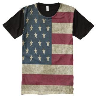 T-shirt Tout Imprimé Style grunge de drapeau américain tout plus de -