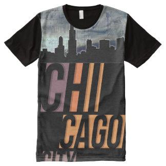 T-shirt Tout Imprimé Ville de Chicago (ville de Chi) II