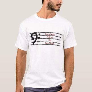 T-shirt Tout le monde suit le bassiste