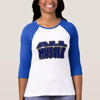 T-shirt Tout le muscle, bleu exprime n'importe quel
