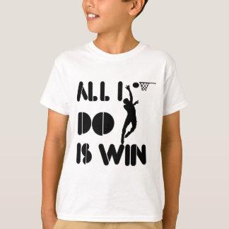 T-shirt Tout que je fais est victoire au net-ball