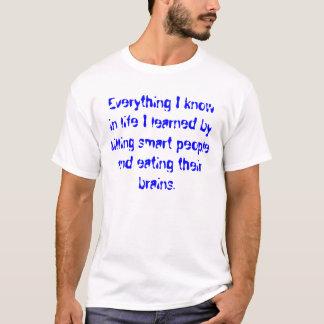 T-shirt Tout que je sais dans la vie ......