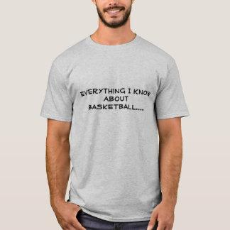 T-shirt Tout que je sais le BASKET-BALL….