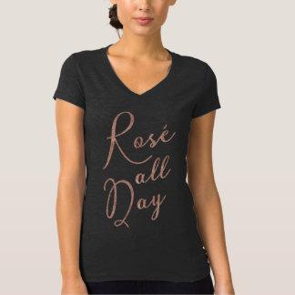 T-shirt toute la journée rose de scintillement
