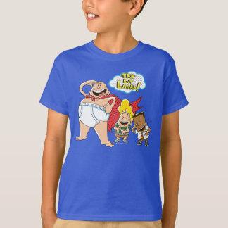 T-shirt Tra-La-Laaaa de capitaine Underpants | !