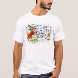 T-shirt Tracez la goupille placée à Singapour sur la