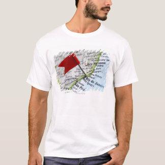 T-shirt Tracez la goupille placée dans le Rio de Janeiro,